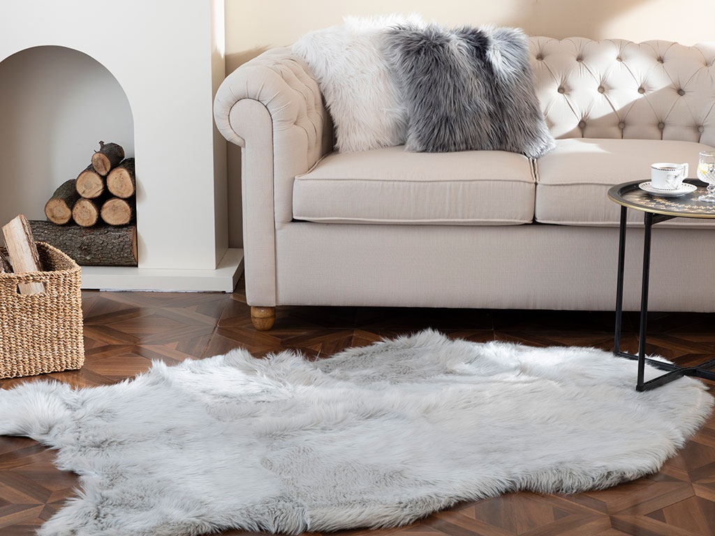 Jade Acrylic Fake Fur 120x180 Cm Gray
