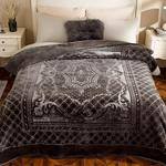 Timeless Emboss Blanket Double Size 200x220 Cm Anthracite