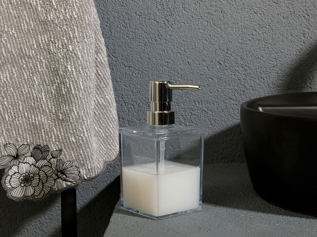 Adela Acrylic Liquid Soap Dispense Transparent