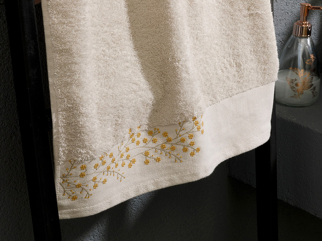 Floral Boho Embroidered Face Towel 50x80 Cm