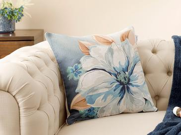 Blue Nature Gobelin Cushion Cover 45x45 Cm Blue-Gray