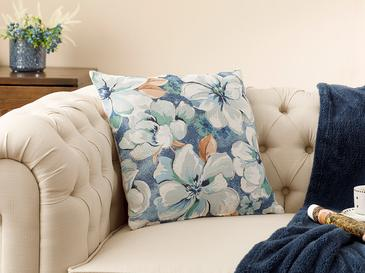 Blue Nature Gobelin Cushion Cover 45x45 Cm Blue