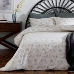 Peony Jacobean Cotton Duvet Cover Set Single Size 160x220 Cm Beige