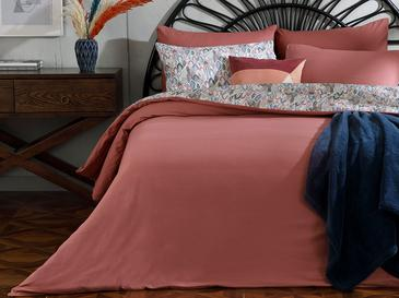 Flowing Cotton Duvet Cover Set Single Size 160x220 Cm Dusty Rose