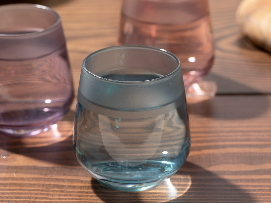Bande Glass 6 Set Served With Coffee Water Glass 115 Ml Colorful
