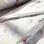 Aircraft Cotton Baby Duvet Cover Full Set 160x220 Cm Gray