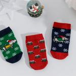Dogs Baby Socks 6-12 Months Green
