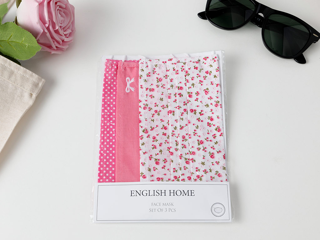 Cool Chic Cotton Mask 9,5x18 Cm Pink-Gray