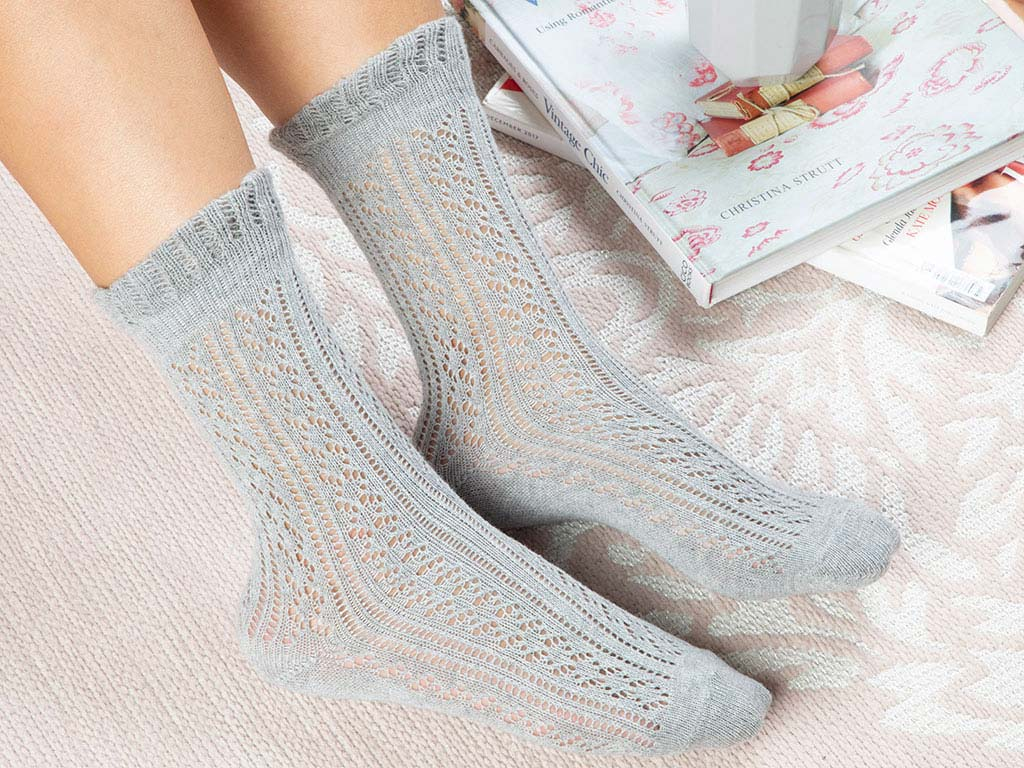 Cotton Socks Mix Gray