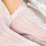 Fishnet Cotton Women's Socks Powder Pink