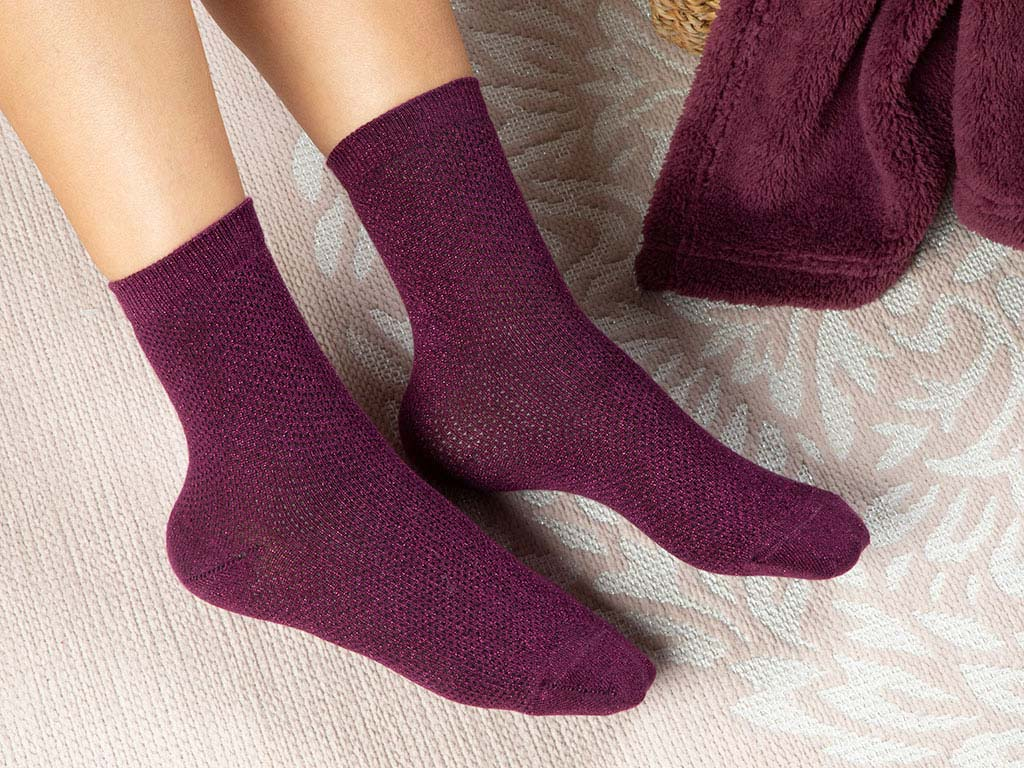 Purler Cotton Women's Socks Purple
