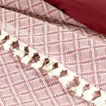 Diamond Weave Bedspread Double Size 240x260 Dusty Rose