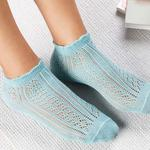 Fishnet Cotton Women's Socks Green