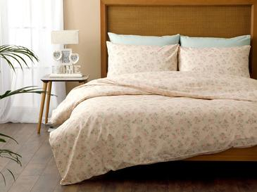 Sweet Rose Cotton Duvet Cover Set Single Size 160x220 Cm Powder
