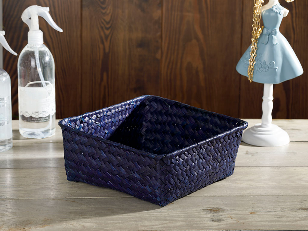 Charming Basket 22x22x9 Cm Blue
