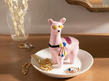 Lama Ceramic Jewelry Holder 13x13x11,5 Cm Pink