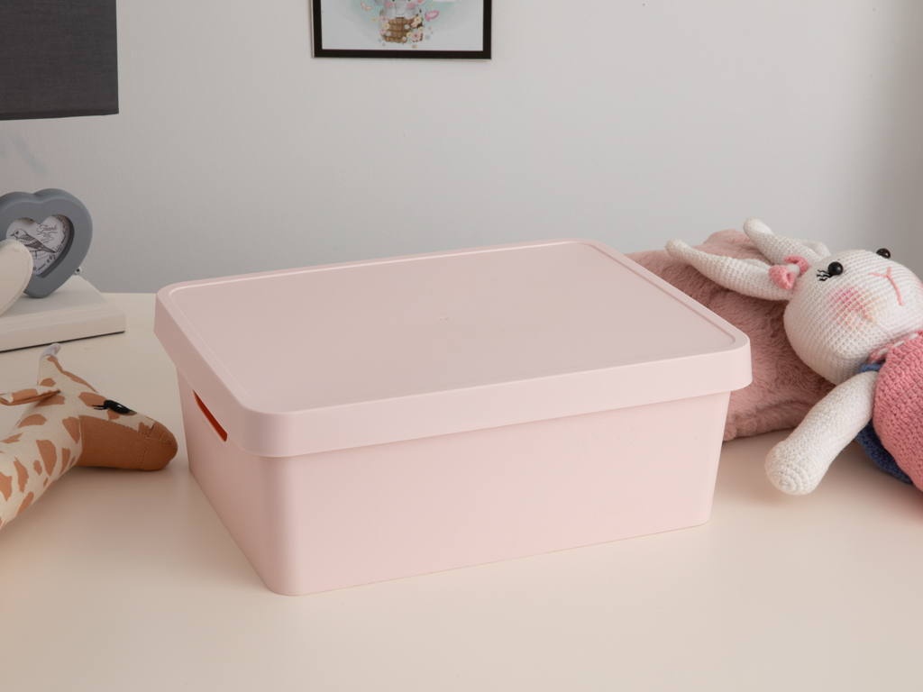 Stella Plastic Storage Box 27x37x14 Cm Powder