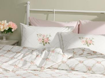 Rose Chain Cotton Duvet Cover Set Single Size 160x220 Cm Light Pink