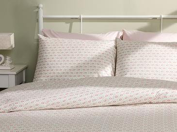 Little Cherry Cotton Duvet Cover Set Single Size 160x220 Cm Light Green