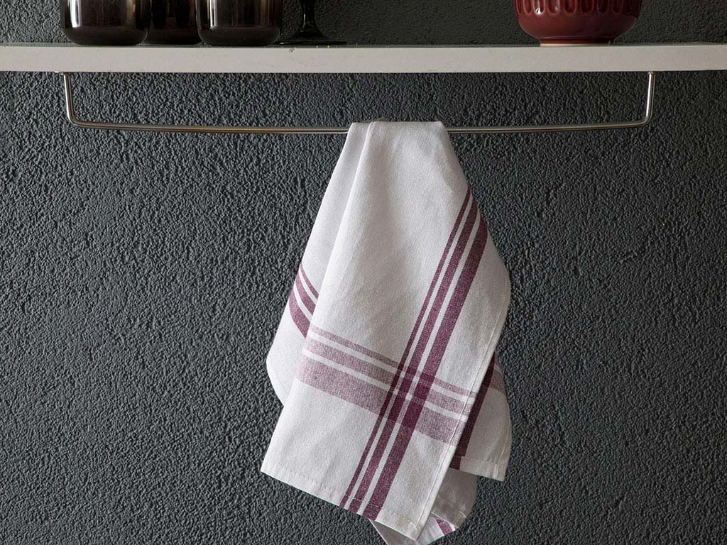 Basic 70% Cotton 30% Regenerated Drying Cloth 40x65 Cm Damson