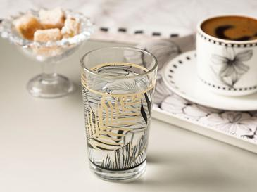 Maylin Water Glass 6 Piece 100 Ml Black