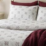 Vintage Floral Cotton Duvet Cover Set Single Size 160x220 Cm Damson