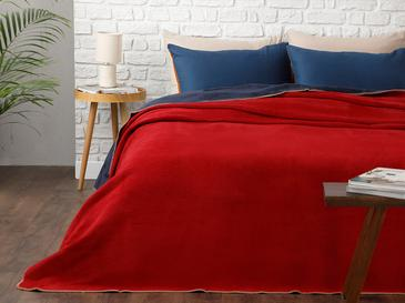 Softy Plain Blanket Double Size 200x220 Cm Red-Navy Blue