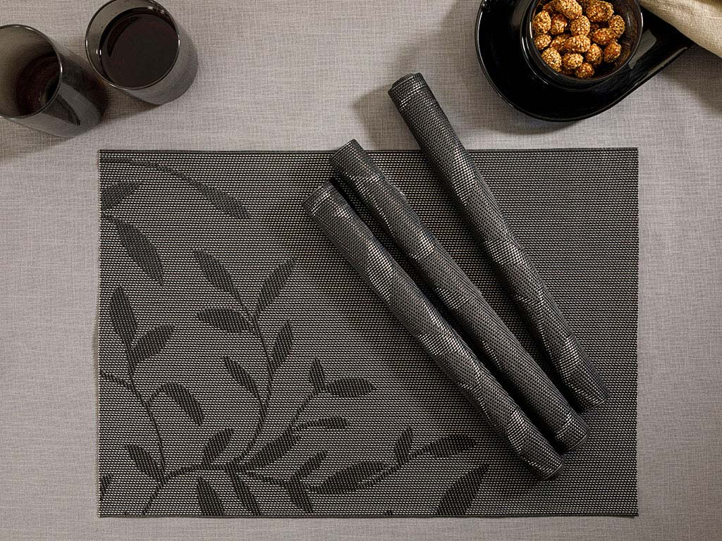 Vendy Puff 4 Set Kıtchen Amerıcan Ser 30x45 Cm Stone Coal