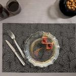 Viola Puff Place Mat 4 Piece 30x45 Cm Black