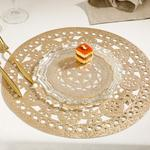 Shine Bright Puff Place Mat 2 Piece 37x5x15 Cm Gold