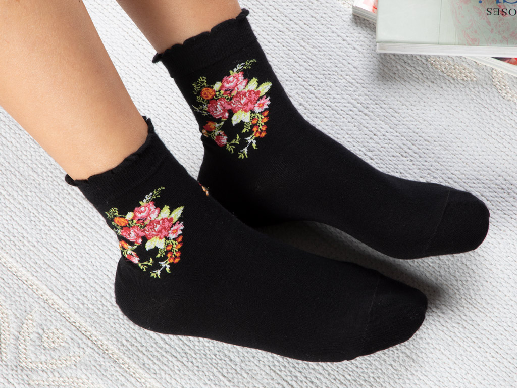 Flower Cotton Socks Mix