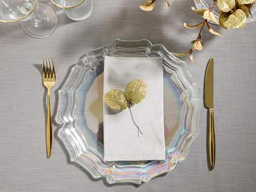 Anabella Glass Service Plate 28 Cm Transparent