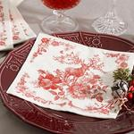 Candy Flowers Paper Napkin 22 Piece 33x33 Cm Red