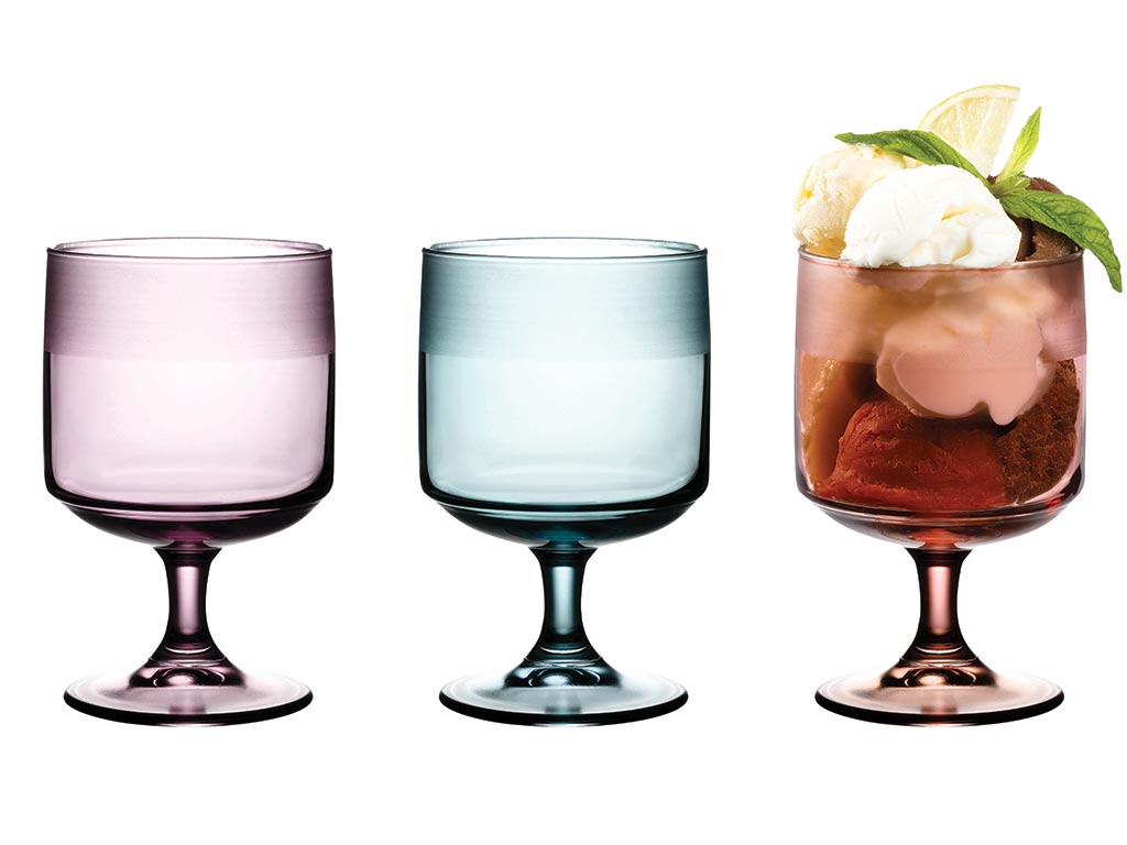 Bande Glass Ice Cream Bowl 3 Piece 300 Ml Colorful