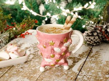 Pine Tree Dolomite Cup 32,8x2,8x33,5 Cm Pink
