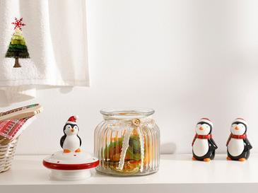 Pinguin Sticlă Păstrare Borcan 60 Mm Transparent