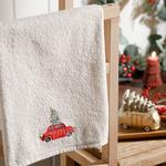 Old Car Yd Embroidered Packaged Souvenir Towel 40x60 Cm Ecru