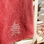 Winter Tree Yd Embroidered Packaged Souvenir Towel 40x60 Cm Red