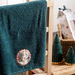 Winter Time Yd Embroidered Packaged Souvenir Towel 40x60 Cm Green