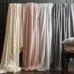 Plain Super Soft Blanket Single Size 150x200 Cm Light Off White