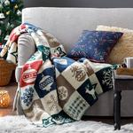 Ornaments Acrylic Tv Blanket 130x170 Cm Green