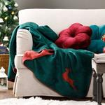 Chic Acrylic Tv Blanket 130x170 Cm Green-Red