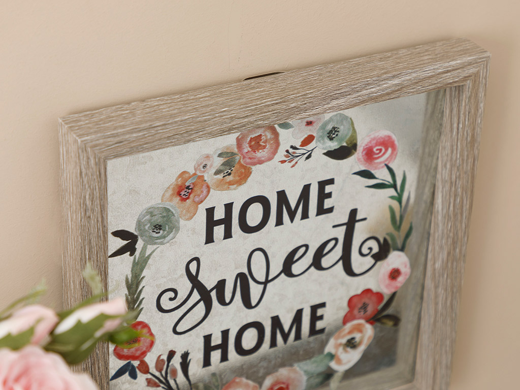 Lovely Home Mdf Picture Frame 24x24 Cm Gray
