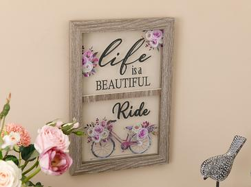 Vintage Bicycle Mdf Picture Frame 25x35 Cm Gray