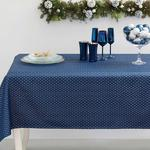 Shine Bright Polyestere Table Cloth 150x200 Cm Dark Blue