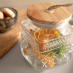 Urban Diamond Glass Jar 1250 Ml Transparent