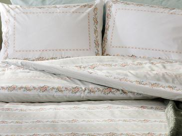 Floral Stripe Cotton Duvet Cover Set Single Size 160x220 Cm