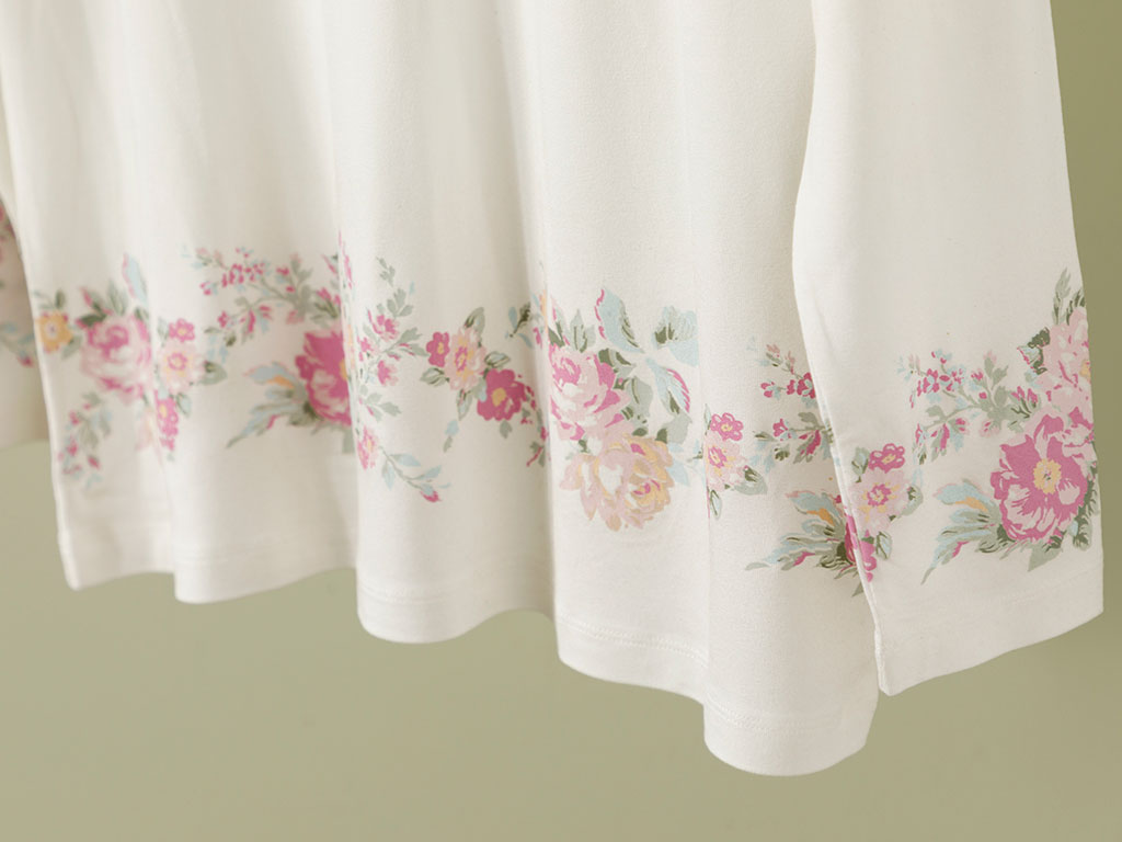 Natural Flower Viscose Pajamas Set L-XL