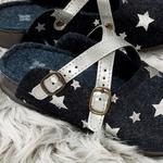 Peace Star Women's Home Slippers 40 Navy Blue
