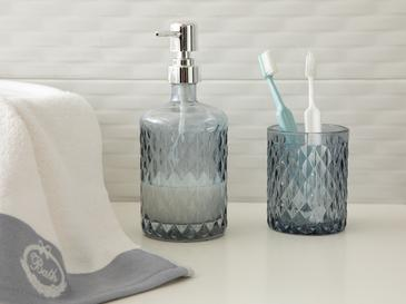 Helena Bathroom Set 8,7x8,2x10 Cm Gray